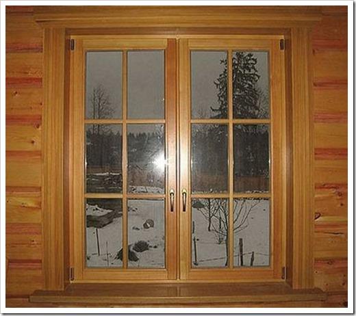 Деревянные окна из дуба.
