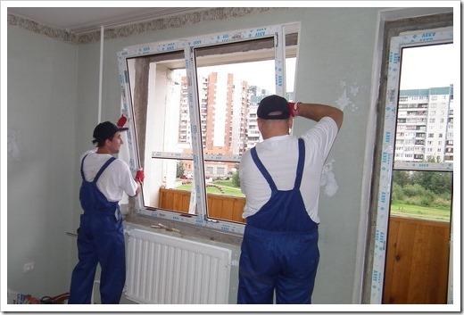 Последовательность действий при монтаже окна