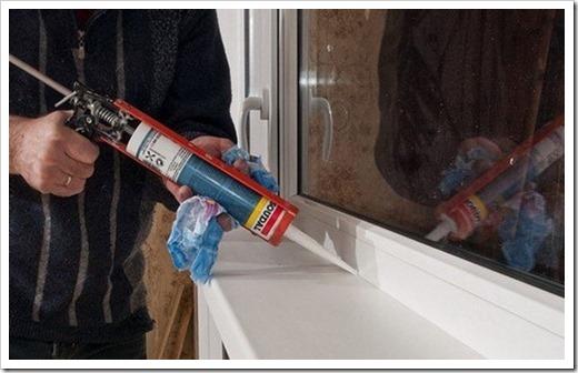 Герметики и замазки для уменьшения потерь тепла пластикового окна