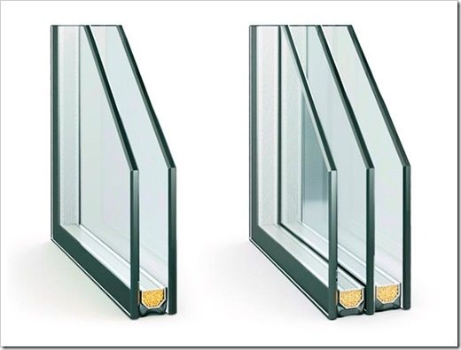 Замена однокамерного стеклопакета на двухкамерную конструкцию