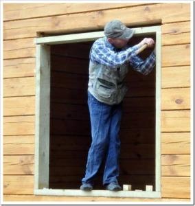 Самостоятельный монтаж пластиковых окон в деревянном доме