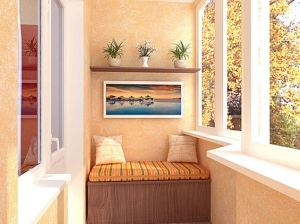 Благоустроенный балкон