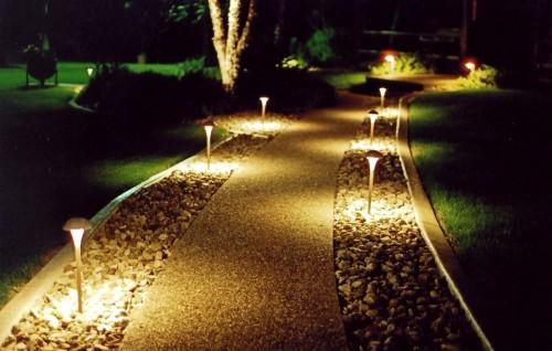 Светильники во дворе