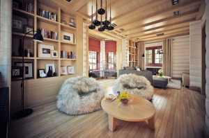 Как устроить интерьер деревянного дома