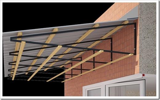 Как сделать крышу балкона последнего этажа своими руками 575