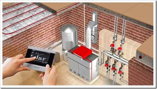 Начало создание системы отопления