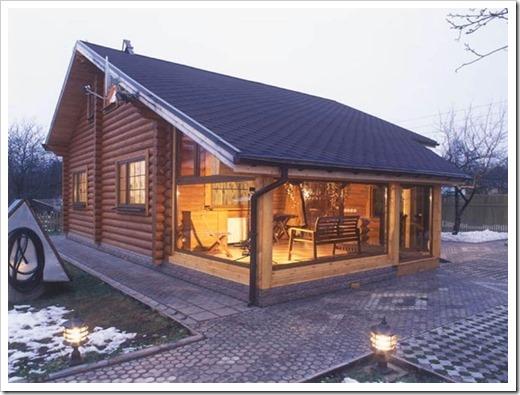 Особенности строительства веранды для дома из оцилиндрованного бревна