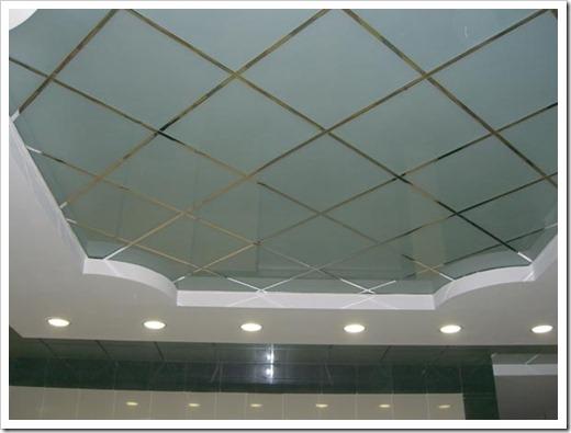 Установка на потолок настоящих зеркал