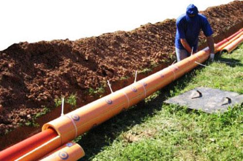 Монтаж наружных сетей канализации