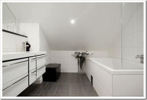 Оригинальное оформление ванной в Скандинавском стиле