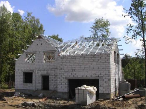 Строительство дома своими руками из пеноблоковотчет