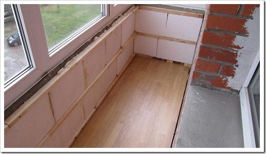 Используемые материалы для ремонта балкона