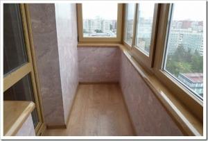 Отделка балконов внутри