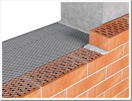 Кладочная сетка в кирпичных конструкциях