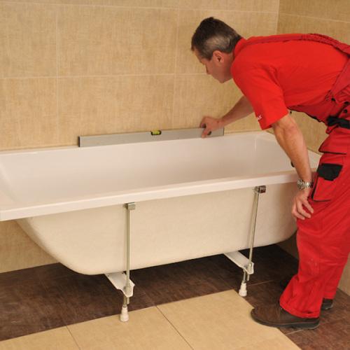 Монтаж и установка акриловой ванны