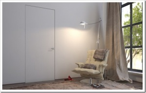 Как сделать дверь практически полностью невидимой?