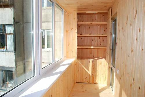 Виды внутренней отделки балконов