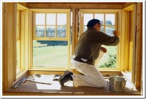 Принцип монтажа деревянных окон