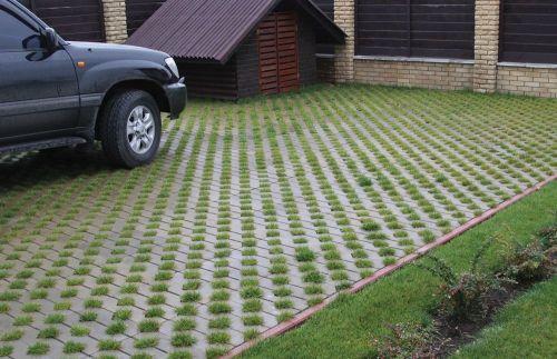 Как укладывать газонную решетку для парковки