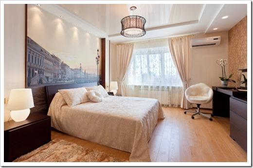 Оптимальные характеристики натяжного потолка для спальни