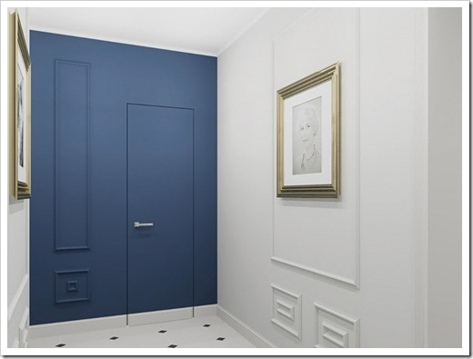 В каких интерьерах уместно применять двери с каменным шпоном?