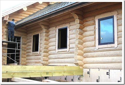Процесс установки пластиковых окон в дом из бруса